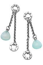 Bola Earrings by Jodi Brownstein (Silver & Stone Earrings)