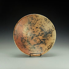 Horse Hair Raku Pottery Bowl II by Lance Timco (Ceramic Bowl)