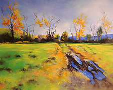 Herrick's Cove Field by Judy Hawkins (Oil Painting)