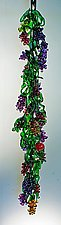 Hanging Grape Vine by David Van Noppen (Art Glass Sculpture)