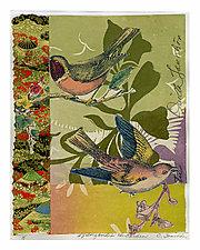 Songbirds in the Garden #7 by Ouida  Touchon (Mixed-Media Wall Art)