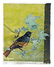 Songbirds in the Garden #8 by Ouida  Touchon (Mixed-Media Wall Art)