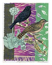 Songbirds in the Garden #9 by Ouida  Touchon (Mixed-Media Wall Art)