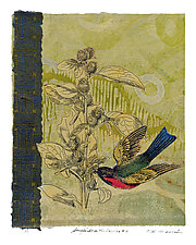 Songbirds in the Garden #11 by Ouida  Touchon (Mixed-Media Wall Art)