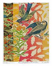 Songbirds in the Garden #12 by Ouida  Touchon (Mixed-Media Wall Art)