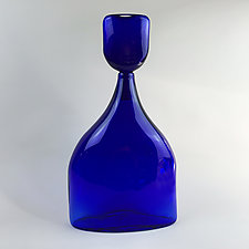 Bluesette Bottle by Wayne Husted (Art Glass Vessel)