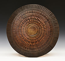 Burmese Shield by Ronald Artman (Ceramic Wall Sculpture)
