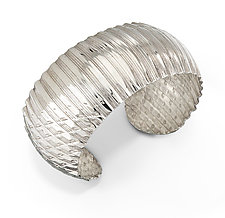 Rippled Domed Cuff by Nora Fischer (Silver Bracelet)