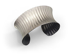 Concave Rippled Cuff by Nora Fischer (Silver Bracelet)