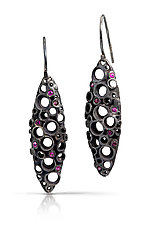 Oxidized Deco Dangle by Shauna Burke (Silver & Stone Earrings)