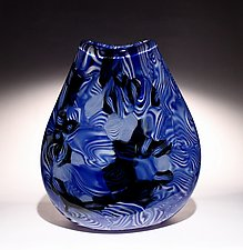 Blue Stratum by James Friedberg (Art Glass Vase)