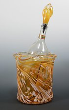 Gold Ice Bucket by Mark Rosenbaum (Art Glass Bucket)