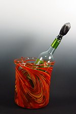 Hot Mix Ice Bucket by Mark Rosenbaum (Art Glass Bucket)