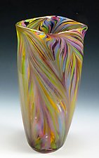 Pastel Peacock Vase by Mark Rosenbaum (Art Glass Vase)