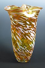 Gold Rowena Vase by Mark Rosenbaum (Art Glass Vase)