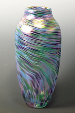 Cool Mix Spun Vase by Mark Rosenbaum (Art Glass Vase)