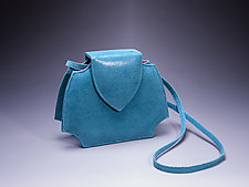 Phillie Evening Bag in Blue by Michelle  LaLonde  (Leather Purse)