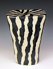Zebra Table by Larry Halvorsen (Ceramic Side Table)