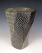 Faceted Table by Larry Halvorsen (Ceramic Side Table)
