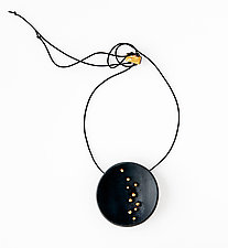 Starry Night Pendant by Syra Gomez (Ceramic Necklace)