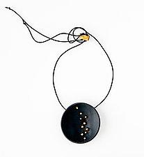 Starry Night Pendant by Syra Gomez (Ceramic Necklace)