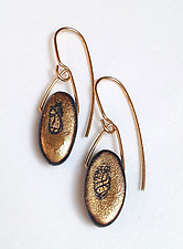 Oval Drop Earrings by Syra Gomez (Ceramic Earrings)