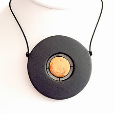 Floating Disc Pendant Necklace by Syra Gomez (Ceramic Necklace)