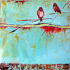 Red Songbirds by Janice Sugg (Oil Painting)
