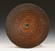 Burmese Ceremonial Wheel II by Ronald Artman (Ceramic Wall Sculpture)