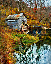 Hyde's Mill in Fall by Matt Anderson (Color Photograph)
