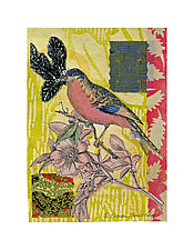 Petit Songbirds #1 by Ouida  Touchon (Mixed-Media Wall Art)