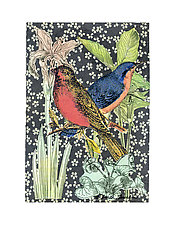 Petit Songbirds #2 by Ouida  Touchon (Mixed-Media Wall Art)