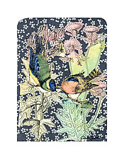 Petit Songbirds #5 by Ouida  Touchon (Mixed-Media Wall Art)