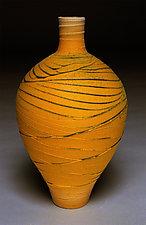 Tangerine Urn by Nicholas Bernard (Ceramic Vessel)
