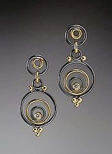 Evandre Earrings by Ben Neubauer (Gold, Silver, & Stone Earrings)