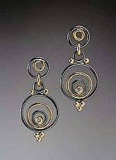 Evandre Earrings by Ben Neubauer (Gold, Silver, & Stone Earrings)