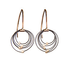 Grad Circle Hooks by Meghan Patrice  Riley (Gold & Steel Earrings)