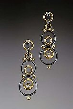 Asteria Earrings by Ben Neubauer (Gold, Silver, & Stone Earrings)