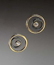 Myrine Earrings by Ben Neubauer (Gold, Silver, & Stone Earrings)