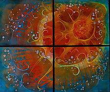 Sunshine Quartet by Cynthia Miller (Art Glass Wall Sculpture)