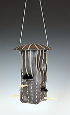 Dots and Dashes Bird Feeder by Larry Halvorsen (Ceramic Bird Feeder)