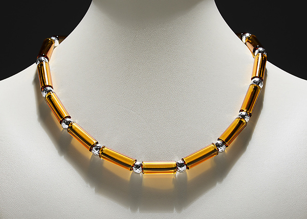 Amber Tube Bed Necklace