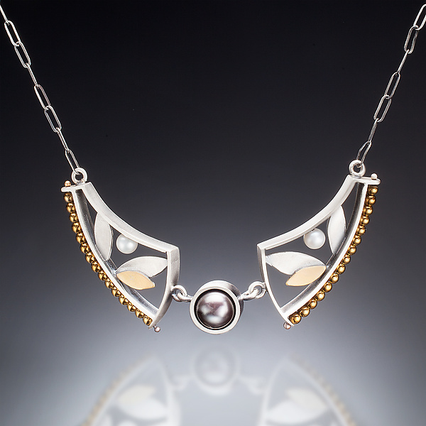 Mixed Metal Curve Necklace
