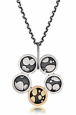 Five Circle Necklace by Patty Schwegmann (Gold & Silver Necklace)