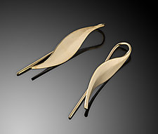 14K Leaf Earring by Ben Dyer (Gold Earrings)
