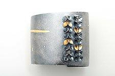 Folded Leaf Large Bangle by Sadie Wang (Gold & Silver Bracelet)