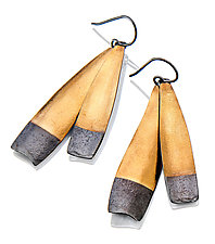 Long Gold Demi-Diva earrings by Sydney Lynch (Gold & Silver Earrings)