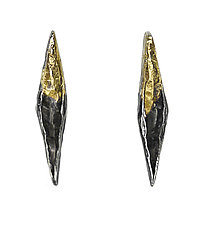Fused Eliza Studs by Sophie Hughes (Gold & Silver Earrings)