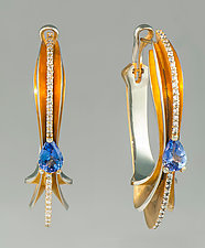 An Oceanic Dream by Shuang Feng (Gold & Stone Earrings)