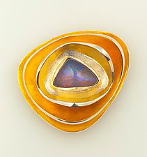 Opal Brooch by Shuang Feng (Gold, Silver & Stone Brooch)